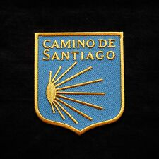 Camino de Santiago Way of St. James Parche Vieira Scallop Shell Patch Peregrino