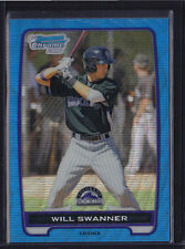 2012 BOWMAN CHROME PROSPECTS BLUE WAVE REFRACTOR WILL SWANNER #BCP73