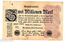 Allemagne GERMANY REICHSBANKNOTE BILLET 2 MILLION MARK 1923 P104 WEIMAR REPUBLIC