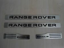 RANGE ROVER EVOQUE DOOR SILL PLATES OF 4 (FRONT AND REAR)