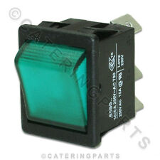 LINCAT SW59 GREEN NEON ROCKER SWITCH ON / OFF 28mm x 22mm PIZZA OVENS / GRILLS