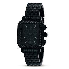 Michele Woman's MWW06A000679 Deco Noir Diamond  Steel Black IP Bracelet Watch