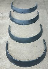 MAZDA MX5 MK1 EUNOS MIATA SET OF 4 BLACK UNIVERSAL WIDE/LARGE ARCHES/FLARES 35mm
