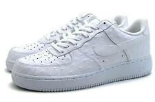 NIKE AIR FORCE 1 '07 LV8 SZ 17 TRIPLE WHITE OSTRICH SKIN 718152 104