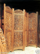 "Sheesham Wood ~ Wooden Screen Partition Kashmiri ✿ 72x80"" (4-panels) Hand carved"