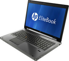 "HP EliteBook 8760w Core i7-2670qm 2.2ghz 8gb 500gb 17"" QUADRO win-7 Laptop"