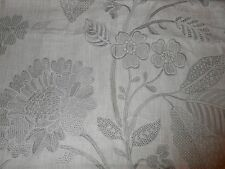 1.5 Y new Schumacher linen fabric ELSPETH in DOVE embroidered floral design