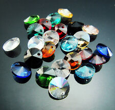 Free Jewelry 20PC Mixed color Czech Crystal UFO shape Beads findings Pendant 8mm