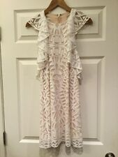 BCBG Max Azria Off White Lace Geometric Pattern Dress, Size XS, NWT!