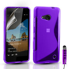 ULTRA SLIM SILICONE GEL CASE COVER & SCREEN PROTECTOR FOR NOKIA LUMIA 650 / 550