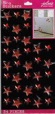 Jolee's All That Bling XL ***RED PUFFY STARS & GEMS***