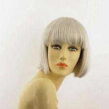 Perruque femme blanche cheveux lisses ref ELISA 60