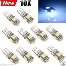 10 X Canbus Error Free White Car T10 5-SMD 5050 W5W 194 16 Interior LED Bulbs