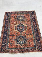 old estate antique KARAJA KARAJEH HERIZ SERAPI persian oriental rug