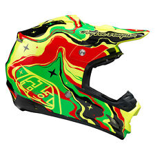Troy Lee Designs TLD SE3 Off Road Helmet Galaxy BLACK YELLOW SMALL NEW