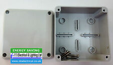PLASTIC ADAPTABLE WEATHERPROOF JUNCTION BOX ENCLOSURE 100 X 100 X 50 mm IP55