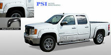 "BLACK PAINTABLE Pocket Fender Flares 07-13 GMC SIERRA 1500 SHORT BED 69.3"" ONLY"