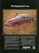 1975 vintage automobile ad, JAGUAR XJ6L, deep red, beautiful!-  041613