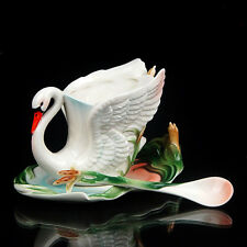 Lifelike Swan Reed Coffee Set Tea Cup/Saucer/Spoon/Plate/Mug  Gift