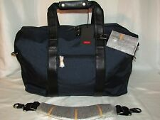 Tumi 22149 Alpha Soft Duffel Small Travel Satchel Leather Ny Black Navy Blue 18""