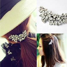 Holder Ponytail Flower Hairpin Rhinestone Comb Hair Clip