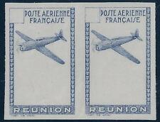 FRANCE REUNION 1938 AIR MAIL IMPERF PROOF PAIR ON UNGUMMED PAPER Sc TYPE AP2