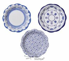 BLUE FLORAL PORCELAIN STYLE SMALL PAPER PLATES-Afternoon Tea Party-RANGE IN SHOP