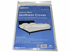 1 X DOUBLE BED SIZE WATERPROOF VINYL MATTRESS PROTECTOR BED WETTING SHEET COVER