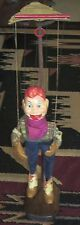 Howdy Doody Marionette Peter Puppet W-Custom Wooden Stand, Standee Patented Copy