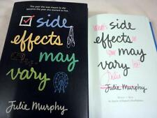 Julie Murphy, SIDE EFFECTS MAY VARY, Signed, 4th printing, Debut Novel