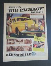 Original 1940 Print Ad Big Package OLDSMOBILE Hydra-Matic Drive