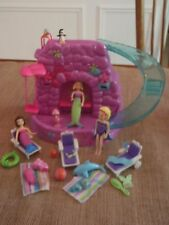 Polly Pocket World Light-Up Fountain Falls Playset Mermaid Waterfall Pool Set 2