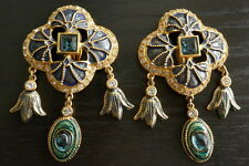 YSL YVES SAINT LAURENT EARRINGS MADE IN FRANCE EXCELLENT BEAUTIFUL