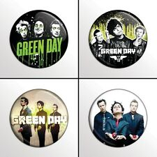 "4-Piece Green Day 1"" Band Pinback Buttons / Pins / Badges Set"