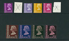 HONG KONG 1976-81 QEII definitives (Scott 316-27 short 318 and 323) VF MNH