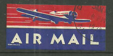 AIR MAIL LABEL DEPICTING A PLANE USA