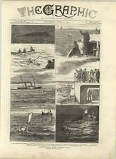 1875 Capt Boyton's Second Channel Voyage Sketches From The Press Boat