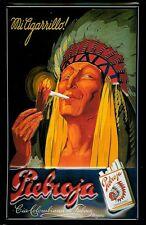 Blechschild Pieboja Zigaretten Indianer Schild Werbeschild Nostalgieschild 20x30