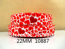 "Love Heart Ribbon 7/8"" Wide NEW UK SELLER FREE P&P"