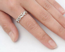 USA Seller Weaved Ring Sterling Silver 925 Best Deal Clear CZ Jewelry Size 7