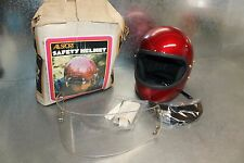 NOS Buco All Sport Vintage Cafe Candy Burgundy Med Full Face Helmet 1792-5