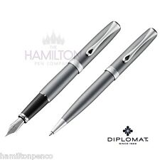 DIPLOMAT EXCELLENCE PEN GIFT SET - Venezia Platin Matt fountain pen & ballpoint