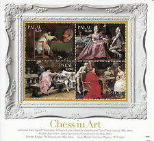 Palau 2013 MNH Chess in Art 4v M/S Giulio Rosati Players Charles Bargue Game