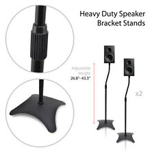 NEW Pyle PSTND19 PAIR of Heavy Duty Speaker Bracket Stands w/Adjustable Height