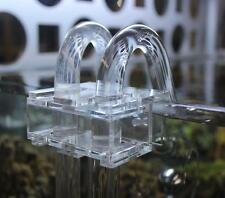 Acrylic Aquarium Water Pipe Hose Tube Clip Clamp Holder for 17mm Pipe 15mm Glass