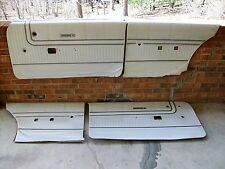 OEM 67 68 PLYMOUTH SPORT FURY 2dr PEARL WHITE DOOR PANEL SET of 4 pieces C-BODY