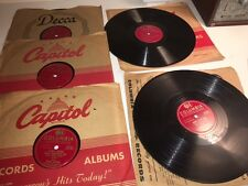 """Lot of 5:  10"""" Frank Sinatra 78 rpm Columbia - Some appear never played!"""