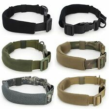 SL-38 Nylon Dog Collars Pet Collar Adjustable For Large Medium Small Dogs Black