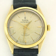 Vintage Men's 18k Gold Rolex Tudor Oyster-Prince Automatic Watch OLD ROSE LOGO