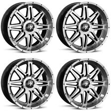 4 ATV/UTV Wheels Set 14in MSA M26 Vibe Machined 4/156 0mm POL
